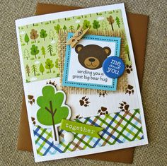 Bear Hug by Kathy Martin for Bella Blvd. using the Campout Collection.