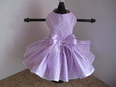 Hey, I found this really awesome Etsy listing at https://www.etsy.com/listing/225050079/dog-dress-xs-lavender-polkadots-by-ninas