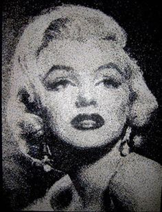 Marilyn/Artist creates dazzling celebrity portraits with hole-punch dots - TODAY.com