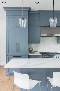 Kitchen designed by Madeleine Design Group in Vancouver's West End neighbourhood. *Re-pin to your inspiration board*