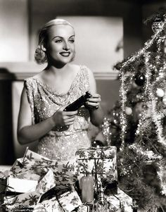 Christmas~ Legendary Actress, Carole Lombard Wishes You a Better Looking Christmas Tree than her Promotions Dept. Came Up With!