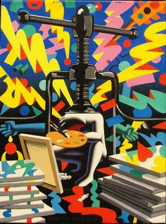 Mark Kostabi, If Time Were My Friend available at #gallartcom