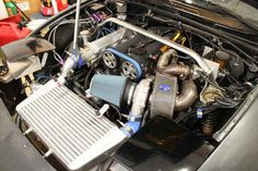NA Mazda Miata with custom Synapse v-band turbo manifold by ctdrftna
