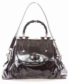Gucci Black Large Pop Bamboo DIALUX Shoulder Bag