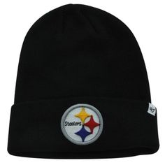 Pittsburgh Steelers Black Cuff Beanie Hat  NFL Cuffed Knit Toque Cap >>> To view further for this item, visit the image link.