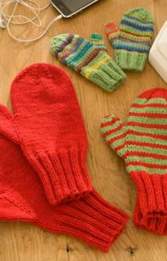 Knitted Mittens Pattern, Crochet Mittens, Knitted Gloves, Knit Or Crochet, Knitting Patterns Free, Free Knitting, Baby Knitting, Free Pattern, Simple Pattern