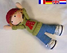Häkelanleitung für Puppe MONJA Deutsch English von CAROcreated