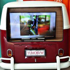 vw bus tv display