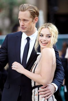 """margotrsource: """" Alexander Skarsgard & Margot Robbie attend the UK Premiere of 'The Legend of Tarzan' at Odeon Leicester Square on July 5, 2016 in London, England. """""""
