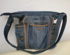 """Umhängetaschen - Jeanstasche Upcycling """"Wegwarte XV"""" - ein Designerstück von Gasani bei DaWanda"""