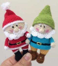 Ami-Domi Land: вяжем амигуруми: Санта Клаус и гном