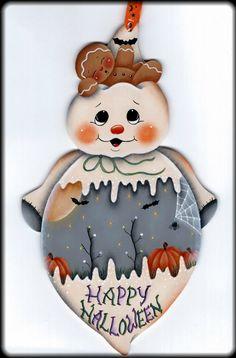 Happy Halloween Ghost with Gingerbread por GingerbreadCuties