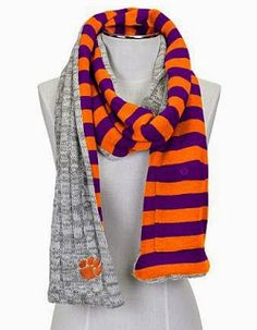 Clemson Girl: Baby it's cold outside - the perfect scarves for a Clemson gameday
