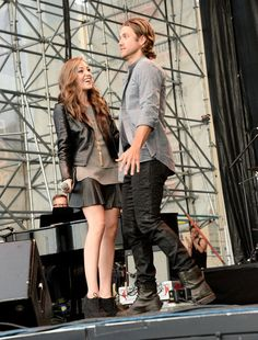 Aaron Tveit and Laura Osnes at Elsie Fest