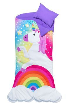 Unicorn Themed Kids Sleepover Set With Sleeping Bag And Tote - Hearthsong, Clear Source by target Sets Unicorn Room Decor, Unicorn Rooms, Unicorn Bedroom, Magical Unicorn, Cute Unicorn, Rainbow Unicorn, Unicorn Land, Unicorn Birthday Parties, Unicorn Party