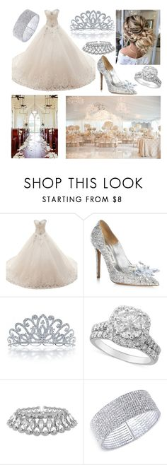"""""""Princess Wedding"""" by enorarivo ❤ liked on Polyvore featuring Jimmy Choo, Bling Jewelry and Anne Klein"""