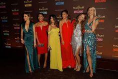 Kunterbunt & bildhübsch: Xenia Tchoumitcheva, Shanti Tan, Ischtar Isik, Paulina Swarovski, Victoria Swarovski and Lena Gercke(v.l.) bei der Magnum-Party in Cannes
