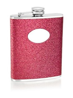 Wilouby 6-Oz. Hot Pink Glittered Stainless Steel Flask
