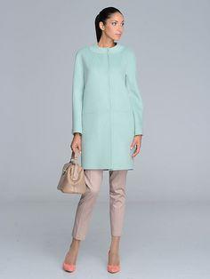 Пальто женское цвет нефрит, велюр, артикул 30134549