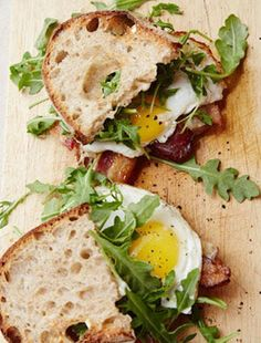 This Fried Egg Sandwich on country bread with bacon and homemade aioli is too good not to make.