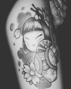 #kokeshidoll #tattoo @tattoonico.ink