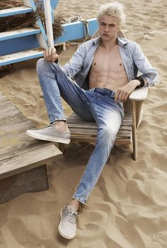 Lucky Blue Smith & Francisco Lachowski Go Casual for Mavis Spring Campaign