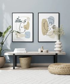 Blue Lines gallery wall Fun Decor, Living Room Color Schemes, Gallery, Livingroom Layout, Online Wall Art, Gallery Wall, Condo Living Room, Inspiration Wall, Blue Hallway