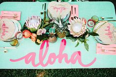 Aloha bridal shower inspiration  | Photo by Megan Welker | Design by Beijos Events | #hawaii #beach #wedding #desintation