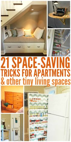 21 Space Saving Tricks for Apartments (or other tiny living spaces) - One Crazy House