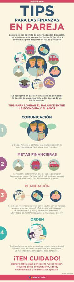 Tips para las finanzas en pareja #infografia