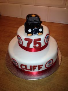 Liverpool Black Taxi Cake