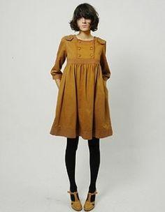 Dark mustard winter dress (and lovely hair) | Heimstone