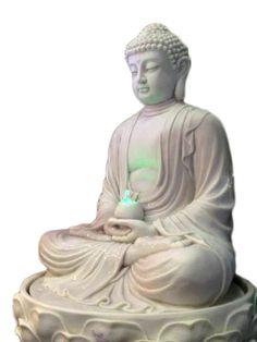 Fonte Buda Meditando Marmorite p/ Decoração de Jardim - http://www.artesintonia.com.br/produto/fonte-buda-meditando-poliresina-p-decoracao-102x52x63cm.html