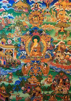 Sakyamuni Buddha Tibetan Thangka