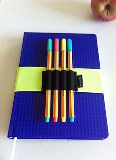 Journal Pen Holder Pen Holder Pen Bandolier Elastic by WrapSodic