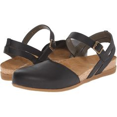 El Naturalista Zumaia NF41 (Black) Women's Shoes ($55) ❤ liked on Polyvore featuring shoes, sandals, black, leather sandals, black sandals, dressy sandals, black dressy shoes and dressy shoes