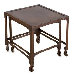 I pinned this C.G. Sparks 2 Piece Orgo Nesting Table Set from the Steampunk Lounge event at Joss and Main!
