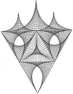 String Art Tutorials, String Art Patterns, Graph Paper Art, Nail String, Sacred Geometry Art, Geometric Drawing, Psy Art, Spirograph, Math Art