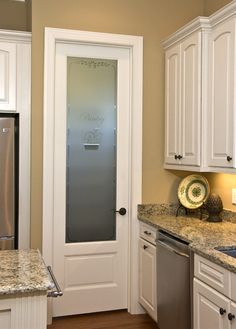 Superb JAVA Glass Pantry Door With Frosted Glass   Love The Look In A Kitchen Good Looking