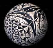 Richard WEBER Blue & White carved sphere