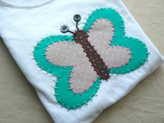 Applique Butterfly Onesie CUSTOM Sizes and Colors by ohmelisa, $22.00