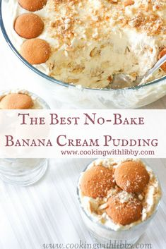 No Bake Banana Cream Pudding | Cooking With Libby