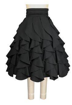 Black Lolita Ruffle Skirt  | eBay
