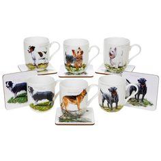WESTIE~YORKIE~COLLIE~LABRADOR~GERMAN SHEP~MACNEIL DOG MUG & COASTER~FREE PP UK