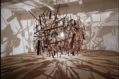 Graphene Meteor Storm by Cornelia Parker. Installation to launch the reopening of Manchester's Whitworth Art Gallery