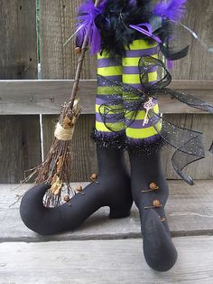 Primitive Witch Boots for Halloween By (Precious*Attic*Prim's) Ebay