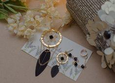 Collar y solitario de atrapa sueños con plumas negras y cristales   Corona de Papel Accesorios
