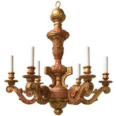 Shop chandeliers and pendants and other antique, modern and contemporary lamps and lighting from the world's best furniture dealers. Wood Chandelier, Vintage Chandelier, Cafe Exterior, Door Detail, Contemporary Lamps, Louis Xvi, Cool Furniture, Candle Holders, Carving