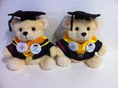 Boneka Wisuda Universitas: Boneka Wisuda Universitas Small Bear 25cm