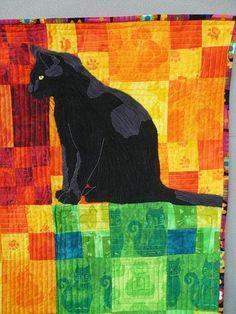 Boris captured in a quilt